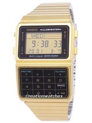 Casio Digital Stainless Steel Data Bank Multi-Lingual DBC-611G-1DF DBC611G-1DF Men's Watch