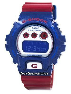 Casio G-Shock Blue And Red Series Digital DW-6900AC-2 DW6900AC-2 Men's Watch