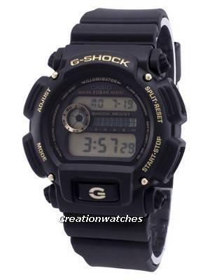 Casio Iluminador G-Shock Cronógrafo Digital DW-9052GBX-1A9 DW9052GBX-1A9 Relógio Masculino