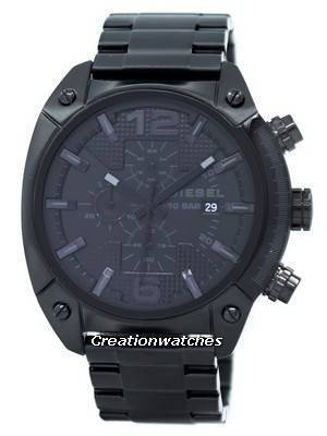 Diesel Advanced Chronograph Black Dial Ion Plated DZ4223 Men's Watch