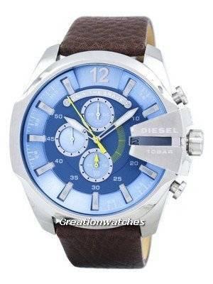 diesel mega chef chronographe bleu cadran dz4281 montre homme fr. Black Bedroom Furniture Sets. Home Design Ideas