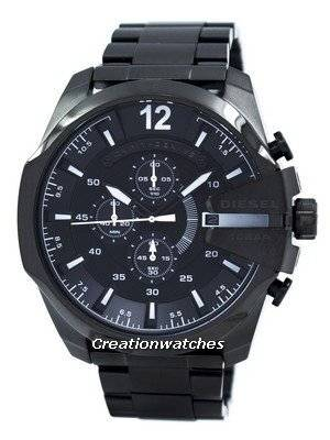 Diesel Mega Chief Quartz Chronograph Black IP DZ4283 Men\'s Watch