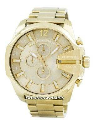 Diesel Quartz Mega Chief Chronograph Gold Tone DZ4360 Men's Watch