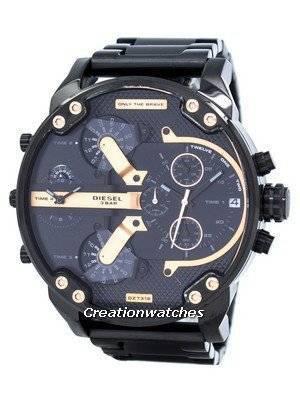 Diesel Mr. Daddy 2.0 Oversized Chronograph Black Dial DZ7312 Men's Watch