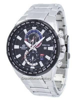 Casio Edifice World Time Quartz EFR-550D-1AV EFR550D-1AV Men's Watch