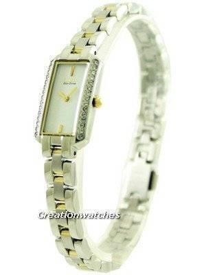 Citizen Eco-Drive Silhouette 30 Swarovski Crystals EG2784-58A Women's Watch