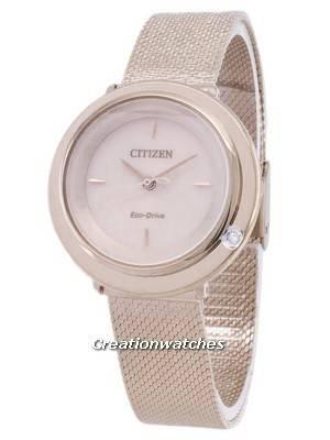 Citizen L Eco-Drive EM0643-84X Analog Diamond Accents Women's Watch