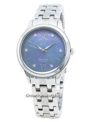 Relógio Citizen Eco-Drive EM0720-85N com detalhes em diamante