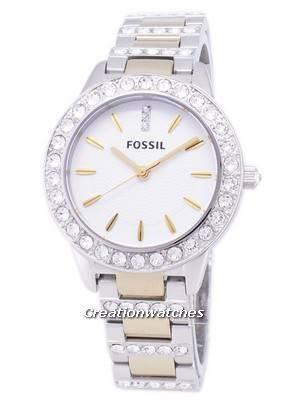 Fossil Jesse Crystal Two-tone Quartz ES2409 Women's Watch
