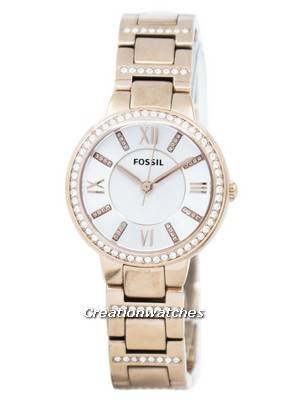 Fossil Virginia Three-Hand Crystal Gold Tone ES3284 Women's Watch