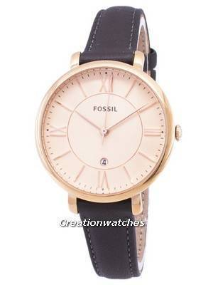 Fossil Jacqueline Quartz Gray Leather ES3707 Women\'s Watch