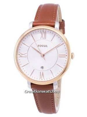Fossil Jacqueline Silver Dial Brown Leather ES3842 Women\'s Watch