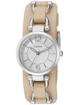 Fossil Georgia Artisan White Dial Sand Leather ES3854 Women\'s Watch