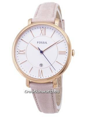 Fossil Jacqueline Quartz Blush Leather Strap ES3988 Women\'s Watch