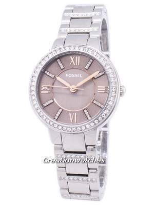 Fossil Virginia Quartz Diamond Accent ES4147 Women's Watch