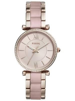 Fossil Carlie Quartz Diamond Accent ES4346 Women's Watch