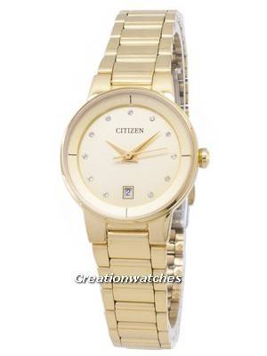Citizen Quartz EU6012-58P Diamond Accents Analog Women's Watch
