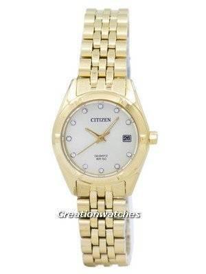 Citizen Analog Quartz Diamond Accent EU6052-53P Women's Watch