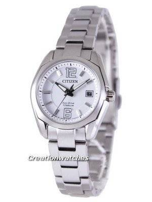 Citizen Eco-Drive Super Titanium EW2101-59B EW2101-59 Ladies Watch