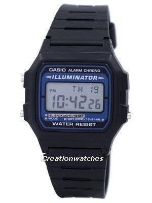 Casio Digital Quartz Alarm Chrono Illuminator F-105W-1ADF F105W-1ADF Men's Watch