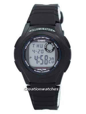 Casio G-Shock Illuminator Dual Time Alarm Chrono F-200W-1A F200W-1A Men's Watch