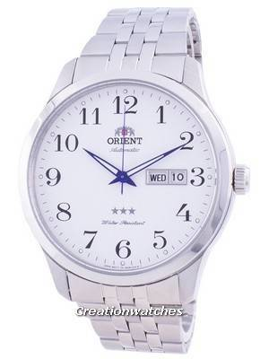 Orient Tri Star White Dial Automatic FAB0B002W9 Men\'s Watch