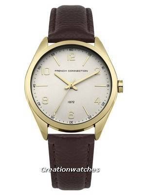 FCUK Grey Dial Leather Strap Quartz FC1304TG Women's Watch