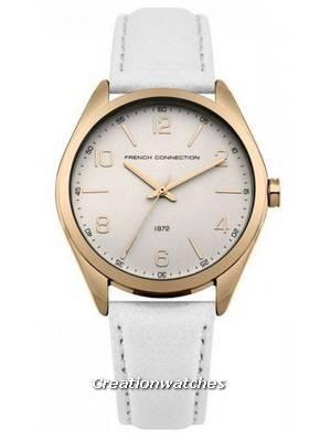 FCUK White Dial Leather Strap Quartz FC1304WRG Women's Watch