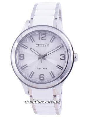 Citizen Silver Dial Stainless Steel Eco-Drive FE7071-84A 100M Women\'s Watch
