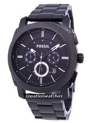 Fossil Machine Chronograph Black IP Stainless Steel FS4552 Men's Watch