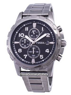Fossil Dean Chronograph Smoke Grey Ion Plated FS4721 Men's Watch