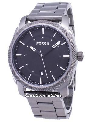 Fossil Machine Black Dial Smoke IP Stainless Steel FS4774 Men\'s Watch