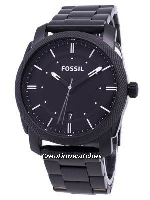Fossil Machine Black IP Stainless Steel FS4775 Men\'s Watch