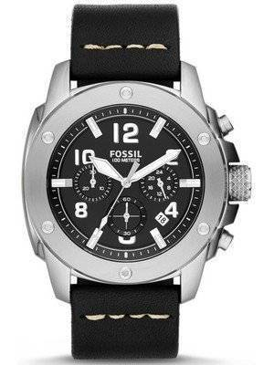 Fossil Modern Machine Chronograph Black Leather FS4928 Men\'s Watch