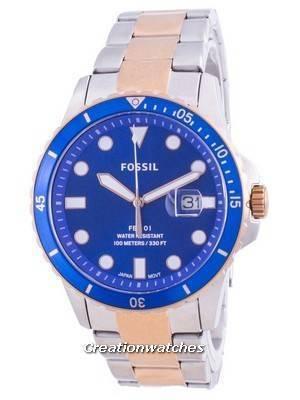Fossil FB-01 Blue Dial Stainless Steel Quartz FS5654 100M Men\'s Watch