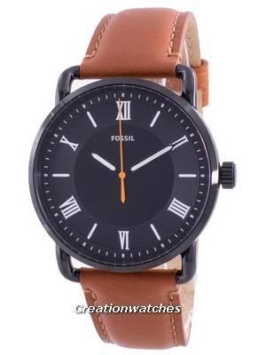 Fossil Copeland Black Dial Leather Strap Quartz FS5667 Men\'s Watch