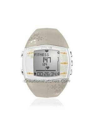 Polar Fitness Training Heart Rate Monitor Watch FT40F FT40 Beige