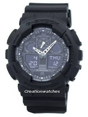 Casio G-Shock Military Matte Black GA-100-1A1 GA100-1A1 Men\'s Watch