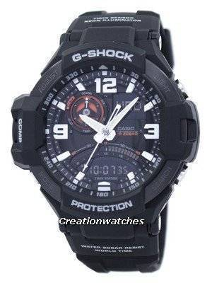 Casio G-Shock GRAVITYMASTER Twin Sensor GA-1000-1A GA1000-1A Men's Watch