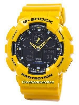 Casio G-Shock GA-100A-9ADR GA100A-9ADR Velocity Indicator Alarm Men's Watch