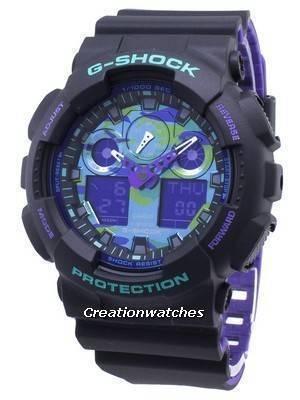 Casio G-Shock GA-100BL-1A GA100BL-1A Shock Resistant 200M Men\'s Watch