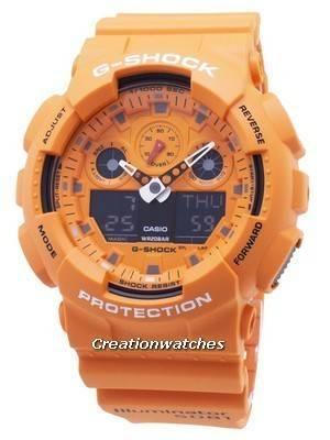 Casio G-Shock GA-100RS-4A GA100RS-4A Chronograph Quartz 200M Men's Watch
