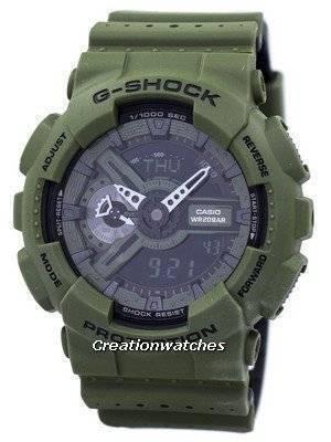 Casio G-Shock GA-110LP-3A GA110LP-3A Shock Resistant World Time Alarm Analog Digital Men's Watch