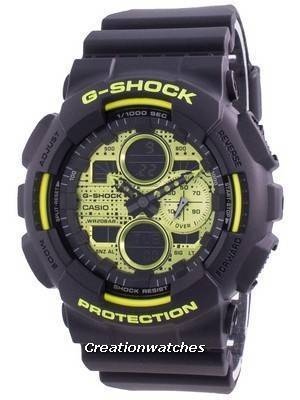 Casio G-Shock World Time Quartz GA-140DC-1A GA140DC-1A 200M Men\'s Watch