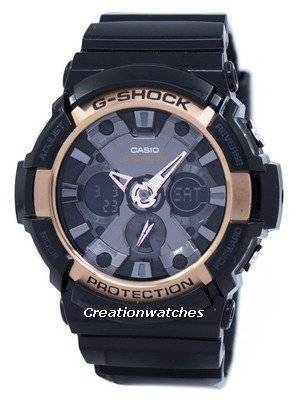 Casio G-Shock Rose Gold Accented GA-200RG-1A GA200RG-1A Men\'s Watch
