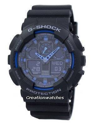 Casio G-Shock World Time Alarm GA-100-1A2 GA-100 Men's Watch