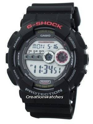 Casio G-Shock World Time GD-100-1ADR GD100-1ADR 200M Digital Men's Watch