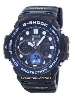Casio G-Shock GULFMASTER Twin Sensor Moon Data Tide Graph GN-1000B-1A GN1000B-1A Men\'s Watch