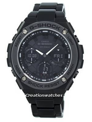 d363332b7c76 Try on the Casio G-Shock G-STEEL Analog-Digital World Time GST-S110BD-1B  Men s Watch for a classy and sophisticated look. Known for their precision
