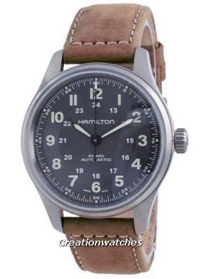 Hamilton Khaki Field Automatic Titanium Black Dial H70545550 100M Men\'s Watch